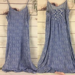 Old Navy Midi Cami Blue/White Striped Dress